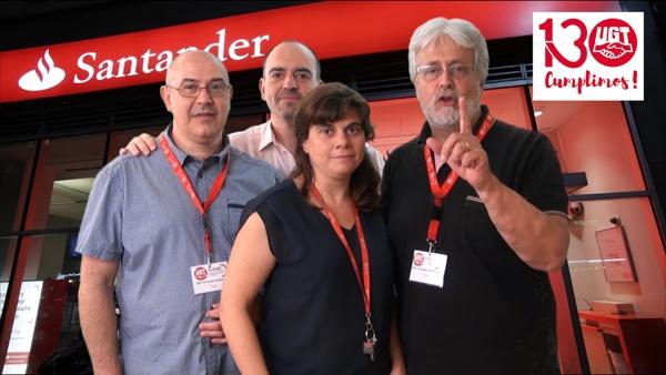UGT en contra de las prolongaciones de jornada en el Banco Santander-Popular