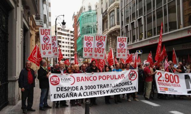 UGT señala como causas del hundimiento del Banco Popular la ineptitud de sus directivos y la pasividad del Gobierno y los reguladores