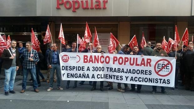 Los trabajadores del Banco Popular dicen No al ERE