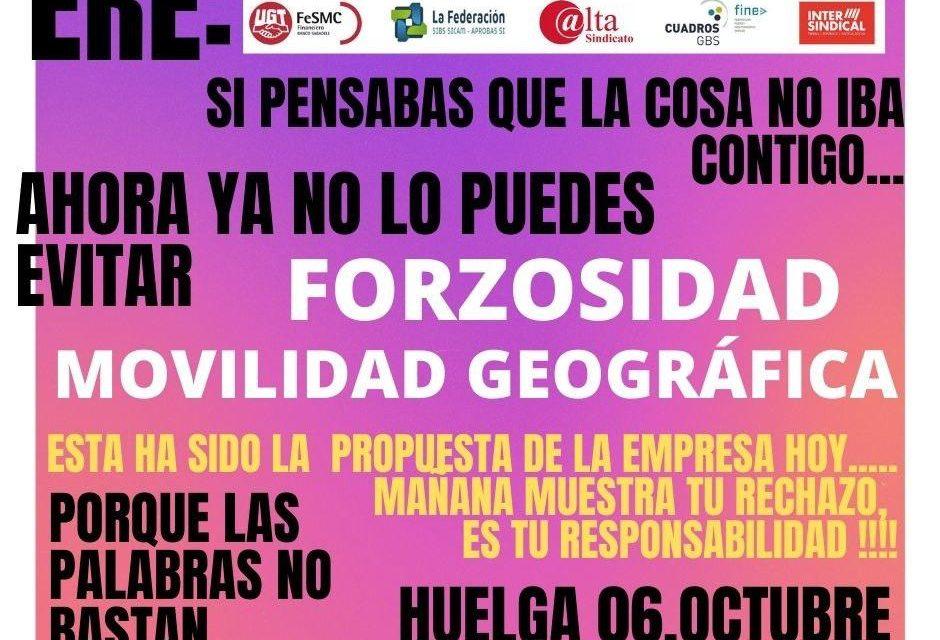 Concentración en Logroño contra el ERE del Banco Sabadell